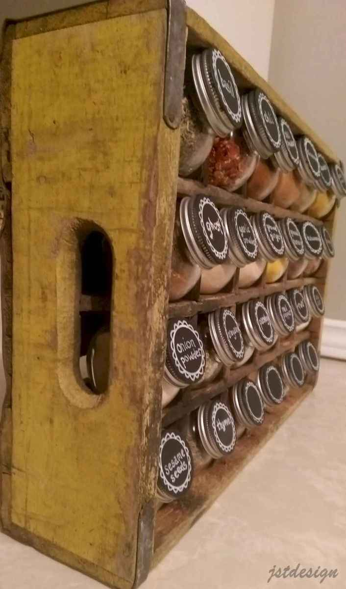 120 DIY Farmhouse Kitchen Rack Organization Ideas (94)