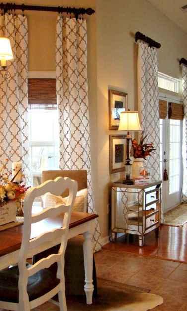 22 Cheap Farmhouse Curtains Ideas Decoration (15)