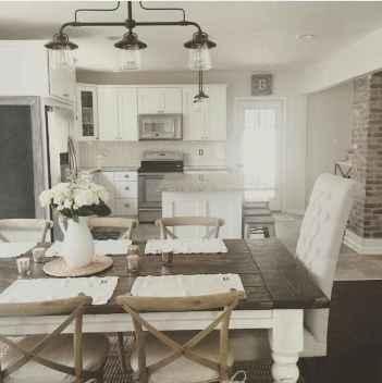 50 Modern Farmhouse Dining Room Decor Ideas (45)