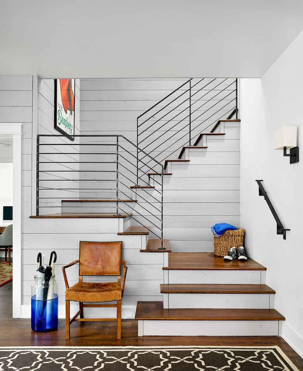 33 Staircase Designs Enriching Modern Interiors With: 80 Modern Farmhouse Staircase Decor Ideas (33