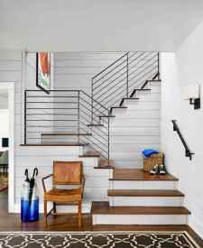 80 Modern Farmhouse Staircase Decor Ideas (33)