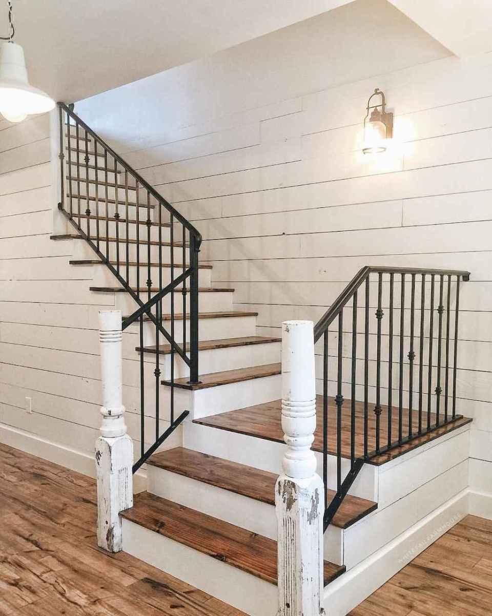 14 Staircases Design Ideas: 80 Modern Farmhouse Staircase Decor Ideas (34