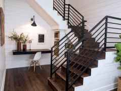 80 Modern Farmhouse Staircase Decor Ideas (37)