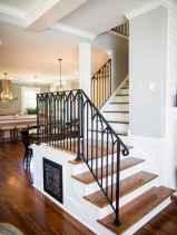 80 Modern Farmhouse Staircase Decor Ideas (56)