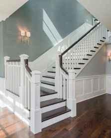 80 Modern Farmhouse Staircase Decor Ideas (6)