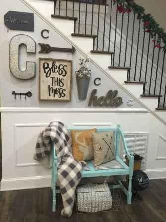 80 Modern Farmhouse Staircase Decor Ideas (76)