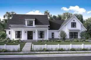 90 Modern American Farmhouse Exterior Landscaping Design (13)