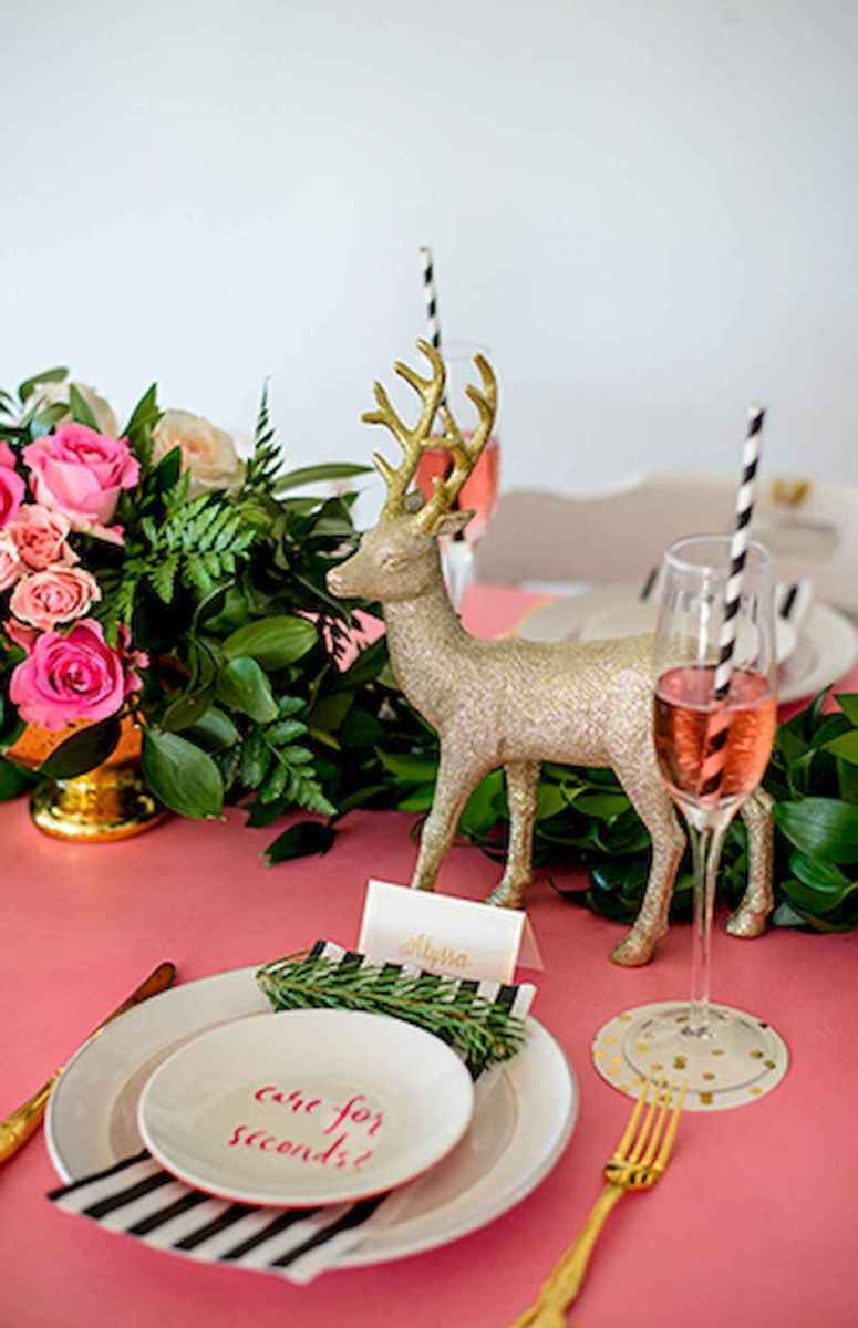 25 Elegant Christmas Party Table Decorations Ideas (7)