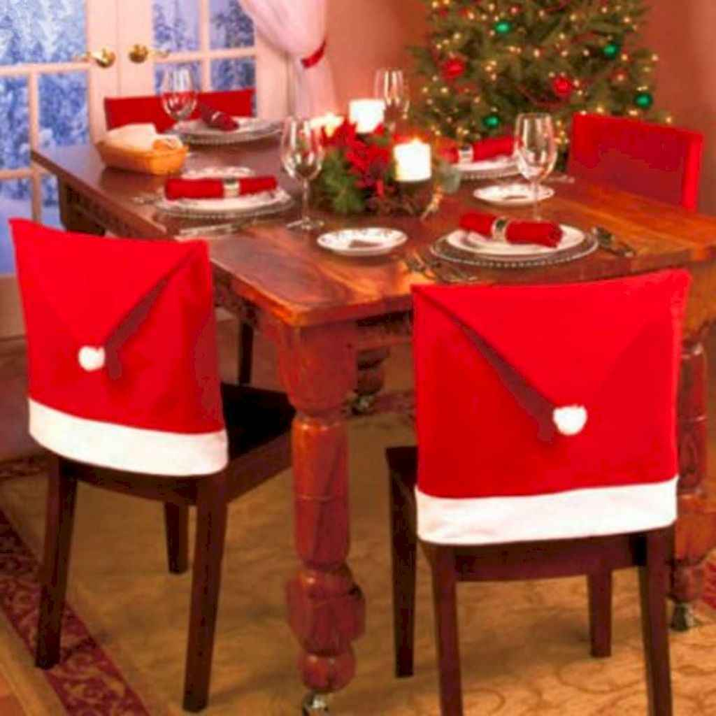 40 Awesome Christmas Dinner Table Decorations Ideas (35)