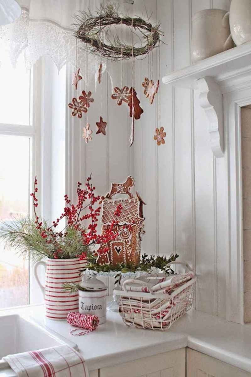 40 First Apartment Ideas Christmas Decorations Shabby Chic (15)