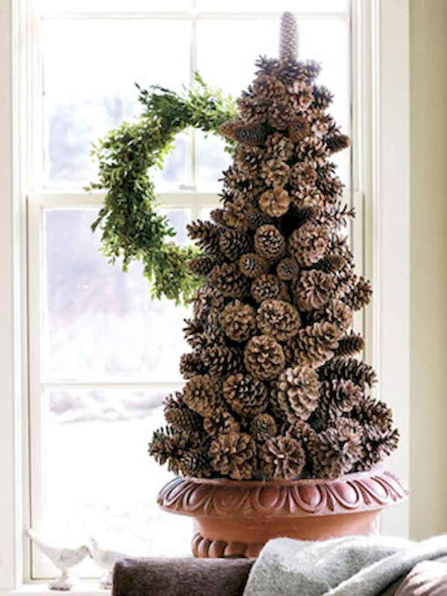 45 Best Christmas Decorations Outdoor Pine Cones Ideas (5)