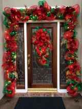 50 Simple DIY Christmas Door Decorations For Home And School (34)
