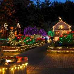 70 Awesome Farmhouse Style Exterior Christmas Lights Decorations (7)