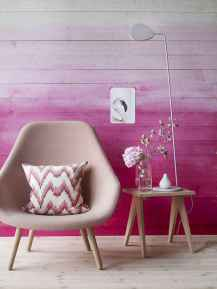 22 DIY Painted Ombre Wall For Apsrtment Decor Ideas (6)