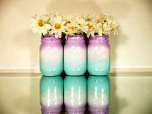 44 DIY Painted Ombre Vases Crafts Ideas On A BUdget (30)