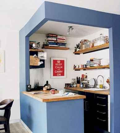 50 Amazing Small Apartment Kitchen Decor Ideas (11)