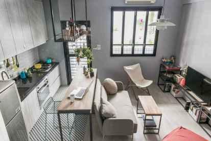50 Amazing Small Apartment Kitchen Decor Ideas (4)