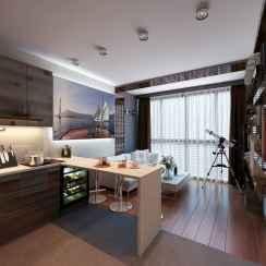 50 Amazing Small Apartment Kitchen Decor Ideas (9)