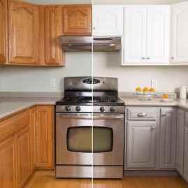 50 Fabulous Apartment Kitchen Cabinets Decor Ideas (31)