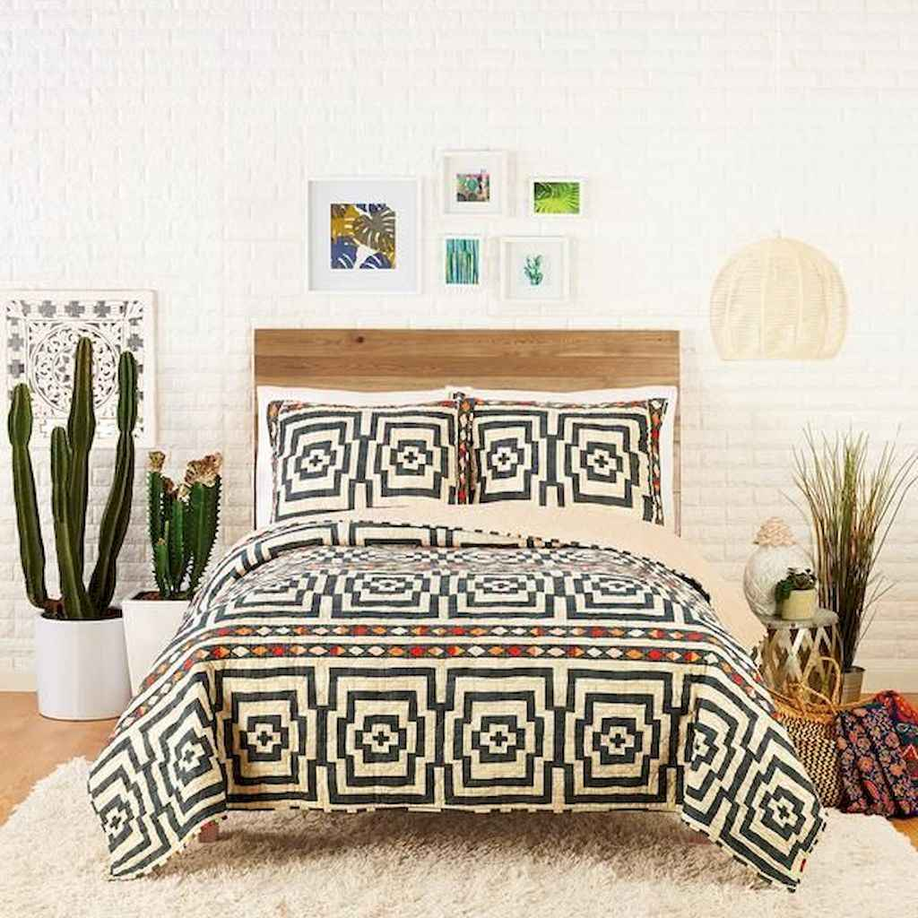 50 Incredible Apartment Bedroom Decor Ideas With Boho Style (11)