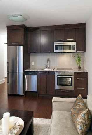 50 Miraculous Apartment Kitchen Rental Decor Ideas (47)