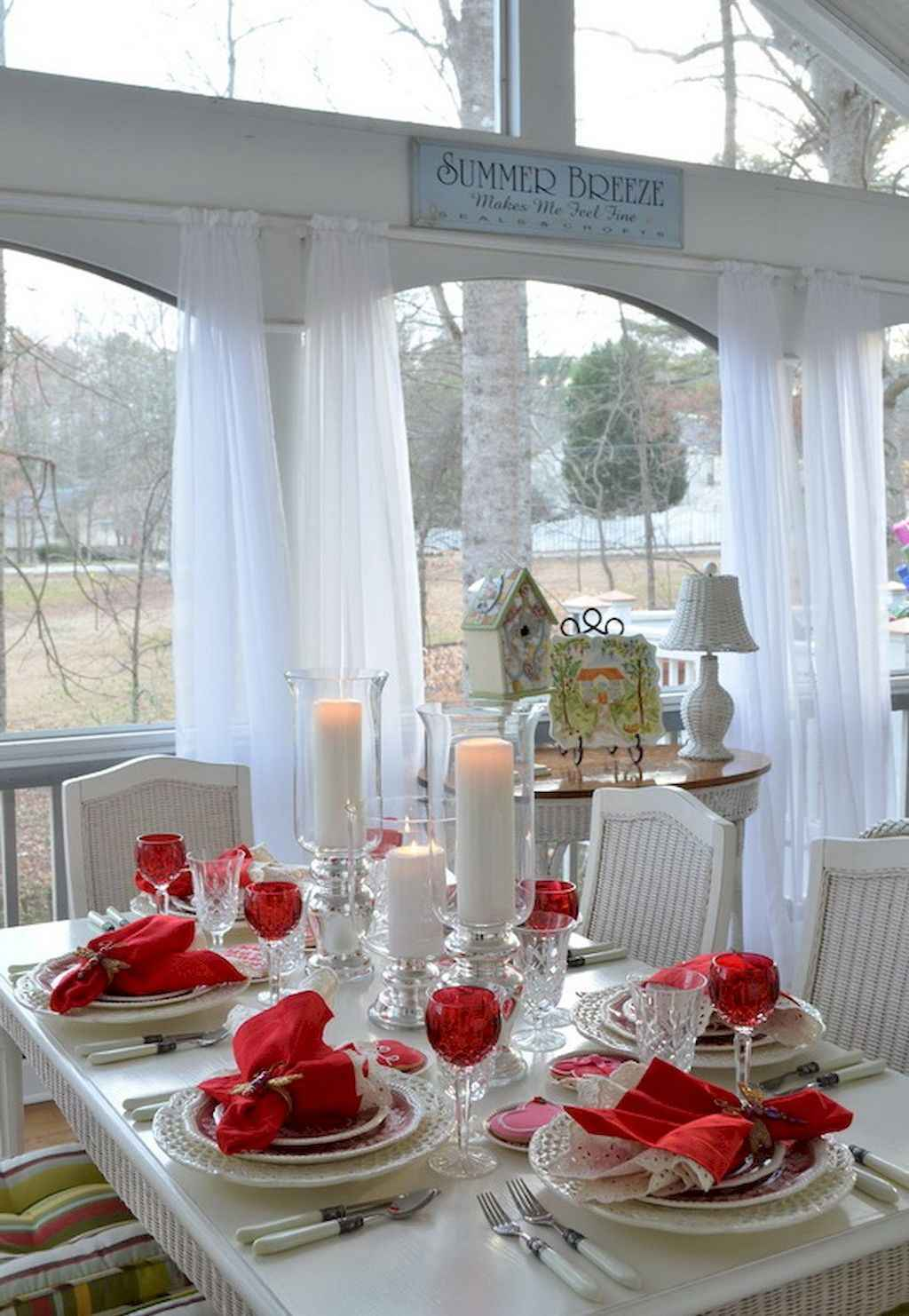 66 Romantic Valentines Table Settings Decor Ideas (37)