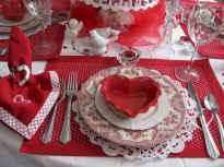 66 Romantic Valentines Table Settings Decor Ideas (51)