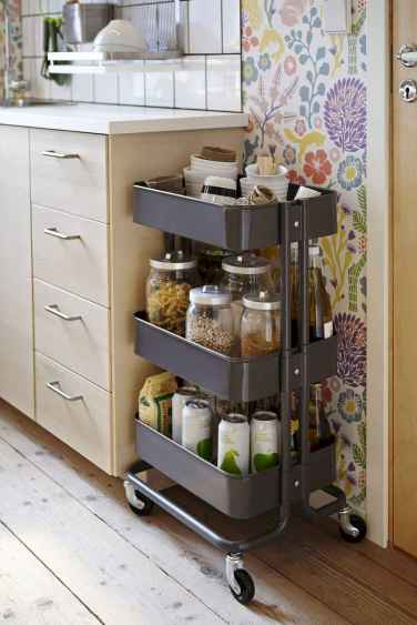 70 Surprising Apartment Kitchen Organization Decor Ideas (14)