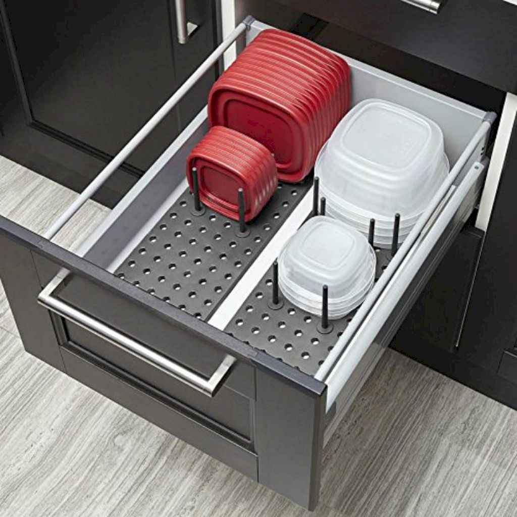 70 Surprising Apartment Kitchen Organization Decor Ideas (63)