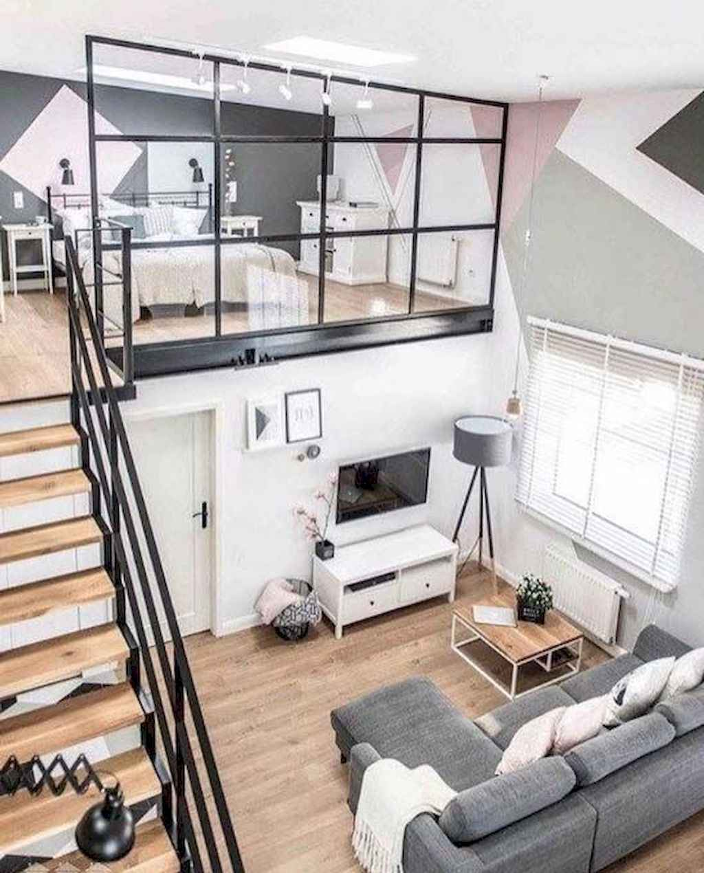 80 Pretty Modern Apartment Living Room Decor Ideas (63)