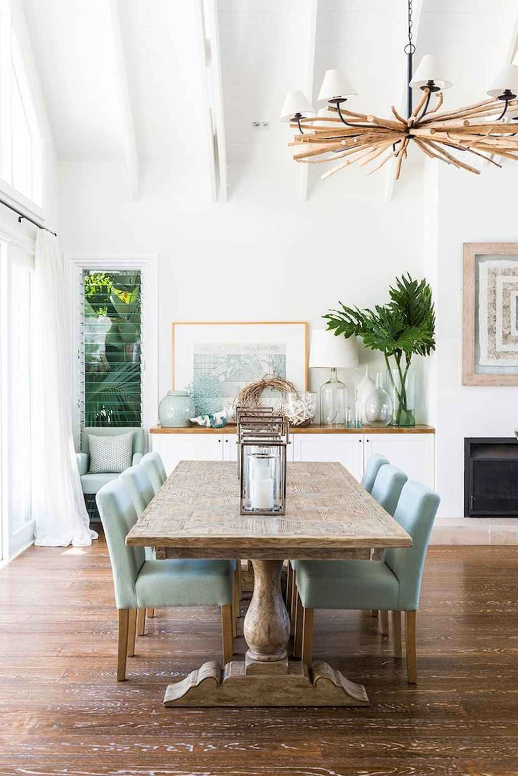 100 Rustic Farmhouse Dining Room Decor Ideas (21)