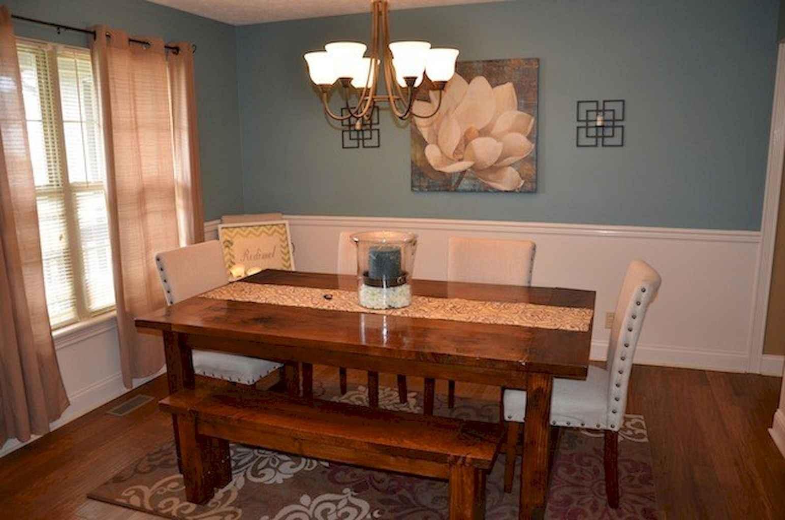 100 Rustic Farmhouse Dining Room Decor Ideas (49)