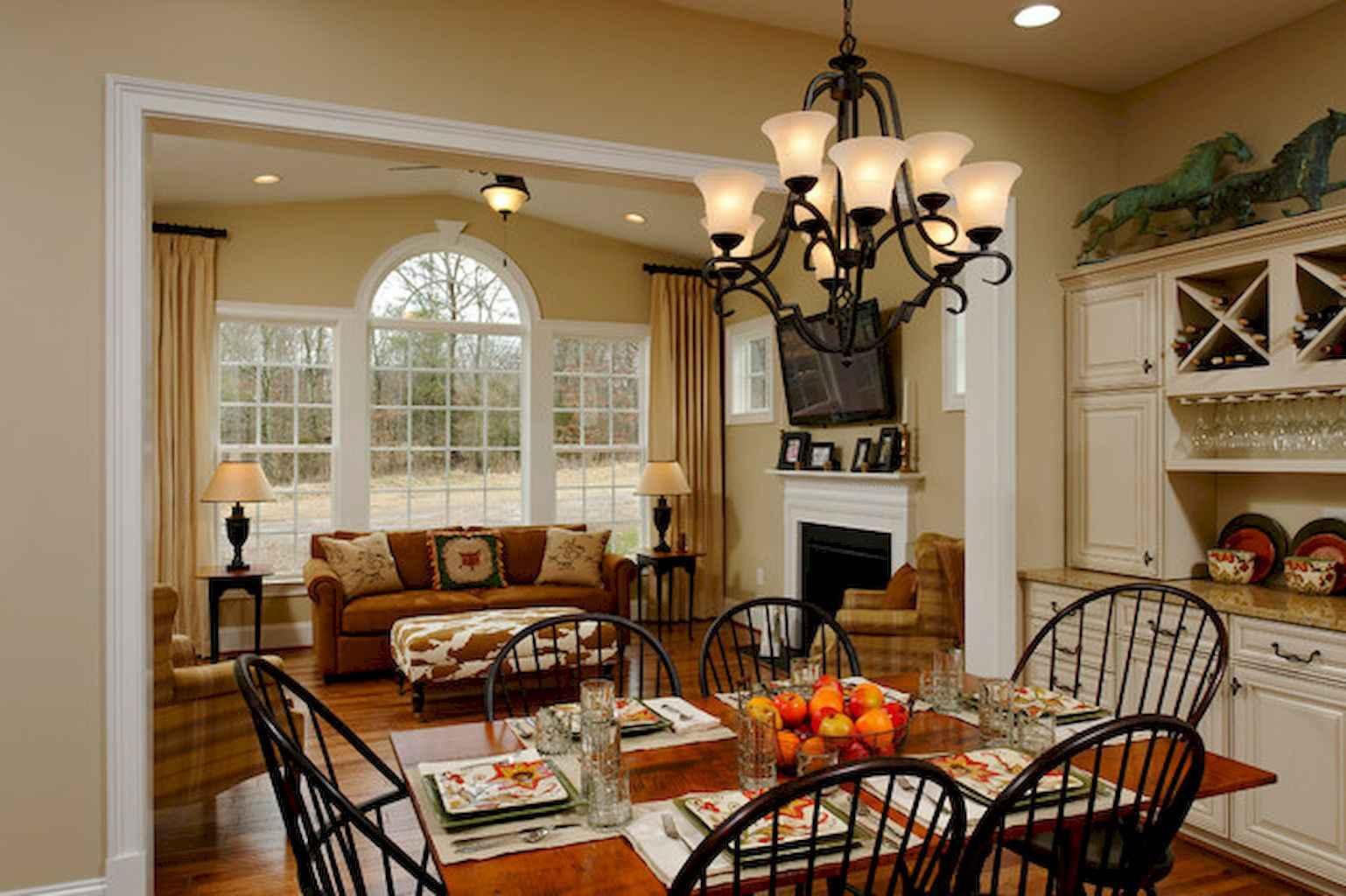 100 Rustic Farmhouse Dining Room Decor Ideas (52)