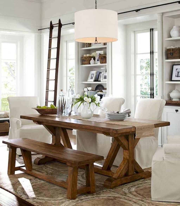 100 Rustic Farmhouse Dining Room Decor Ideas 54