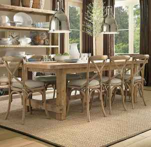 100 Rustic Farmhouse Dining Room Decor Ideas (60)