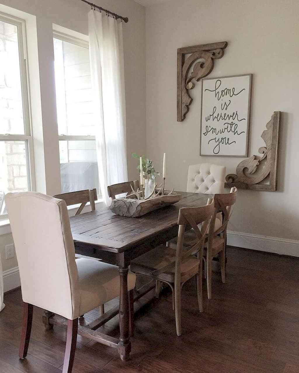 100 Rustic Farmhouse Dining Room Decor Ideas (7)