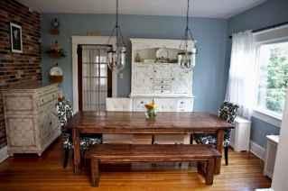 100 Rustic Farmhouse Dining Room Decor Ideas (74)