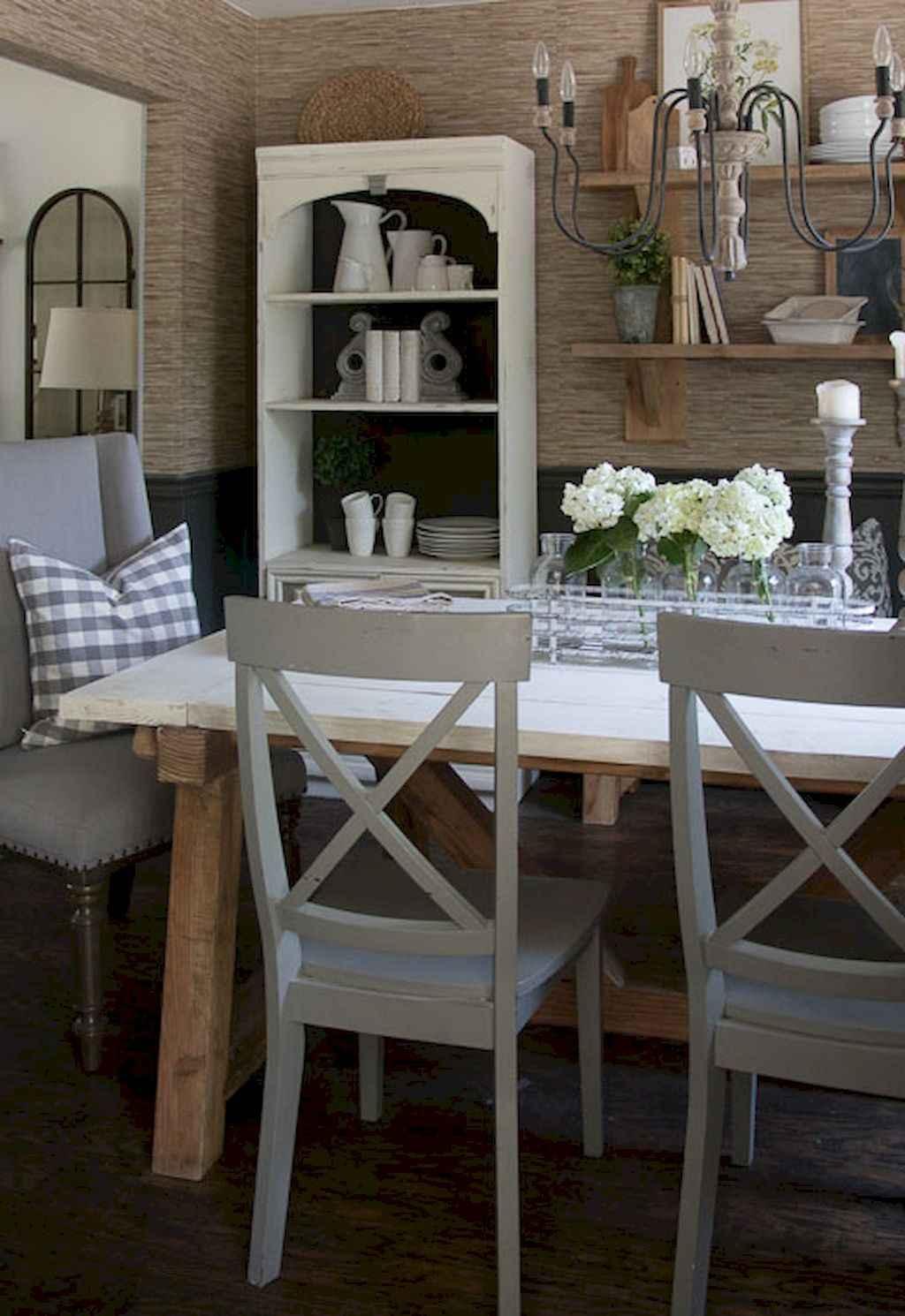 100 Rustic Farmhouse Dining Room Decor Ideas (80)