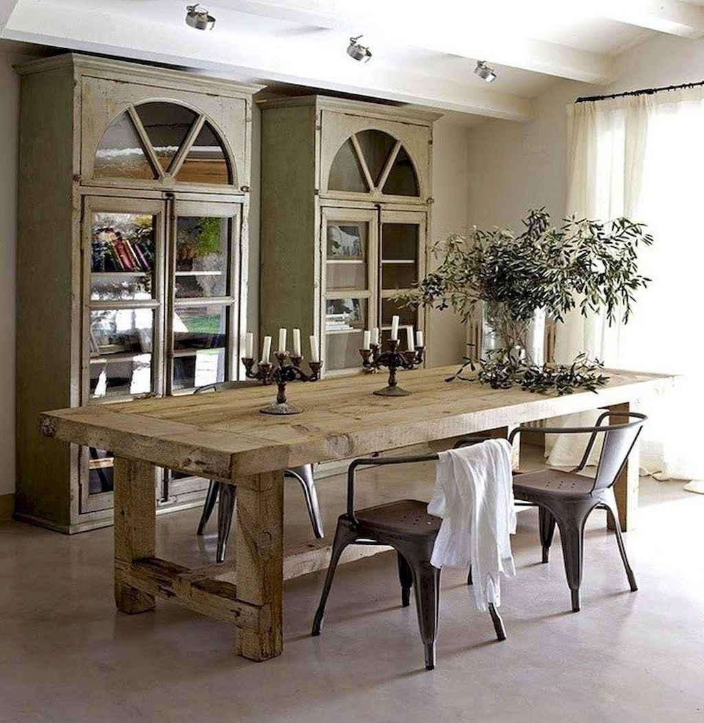 100 Rustic Farmhouse Dining Room Decor Ideas (85)