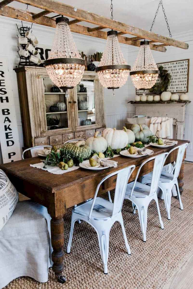 100 Rustic Farmhouse Dining Room Decor Ideas (94 ...