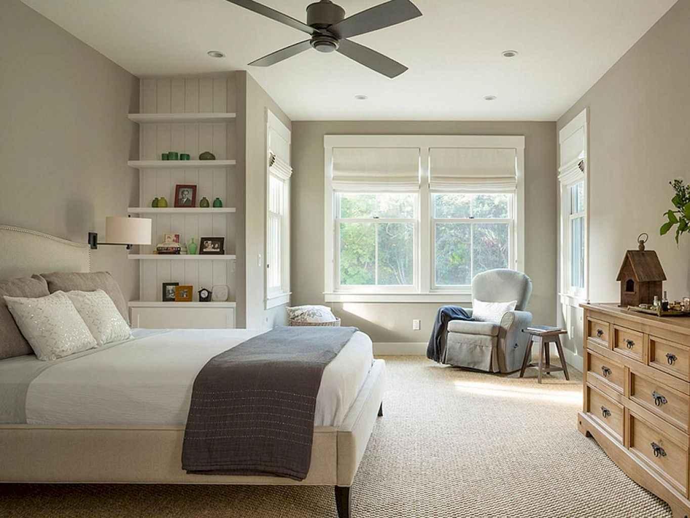 100 Stunning Farmhouse Master Bedroom Decor Ideas (62)