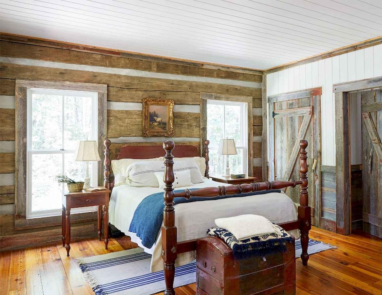 100 Stunning Farmhouse Master Bedroom Decor Ideas (75)