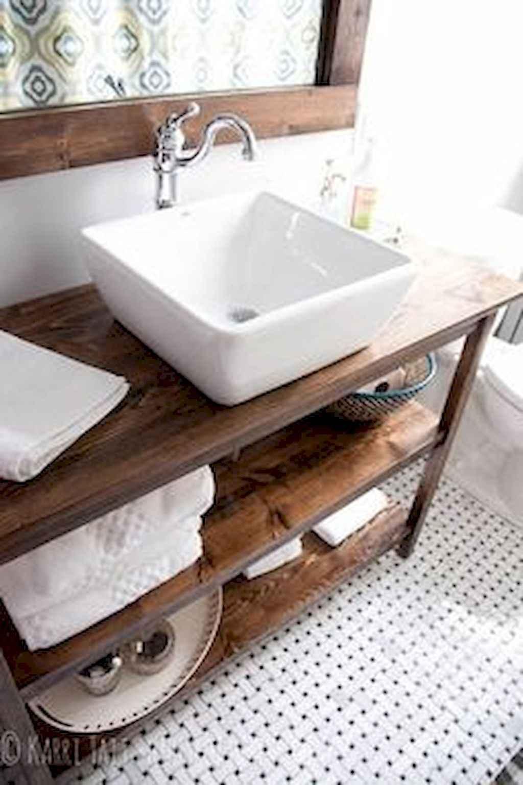 110 Best Farmhouse Bathroom Decor Ideas (114)