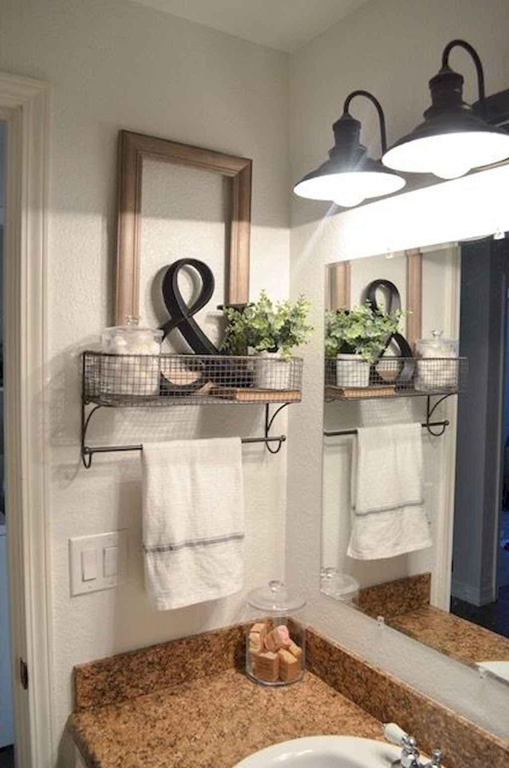 110 Best Farmhouse Bathroom Decor Ideas (129)