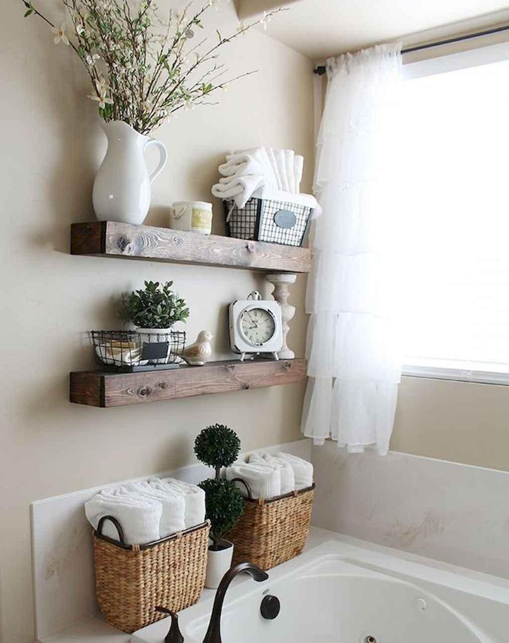 110 Best Farmhouse Bathroom Decor Ideas (137)