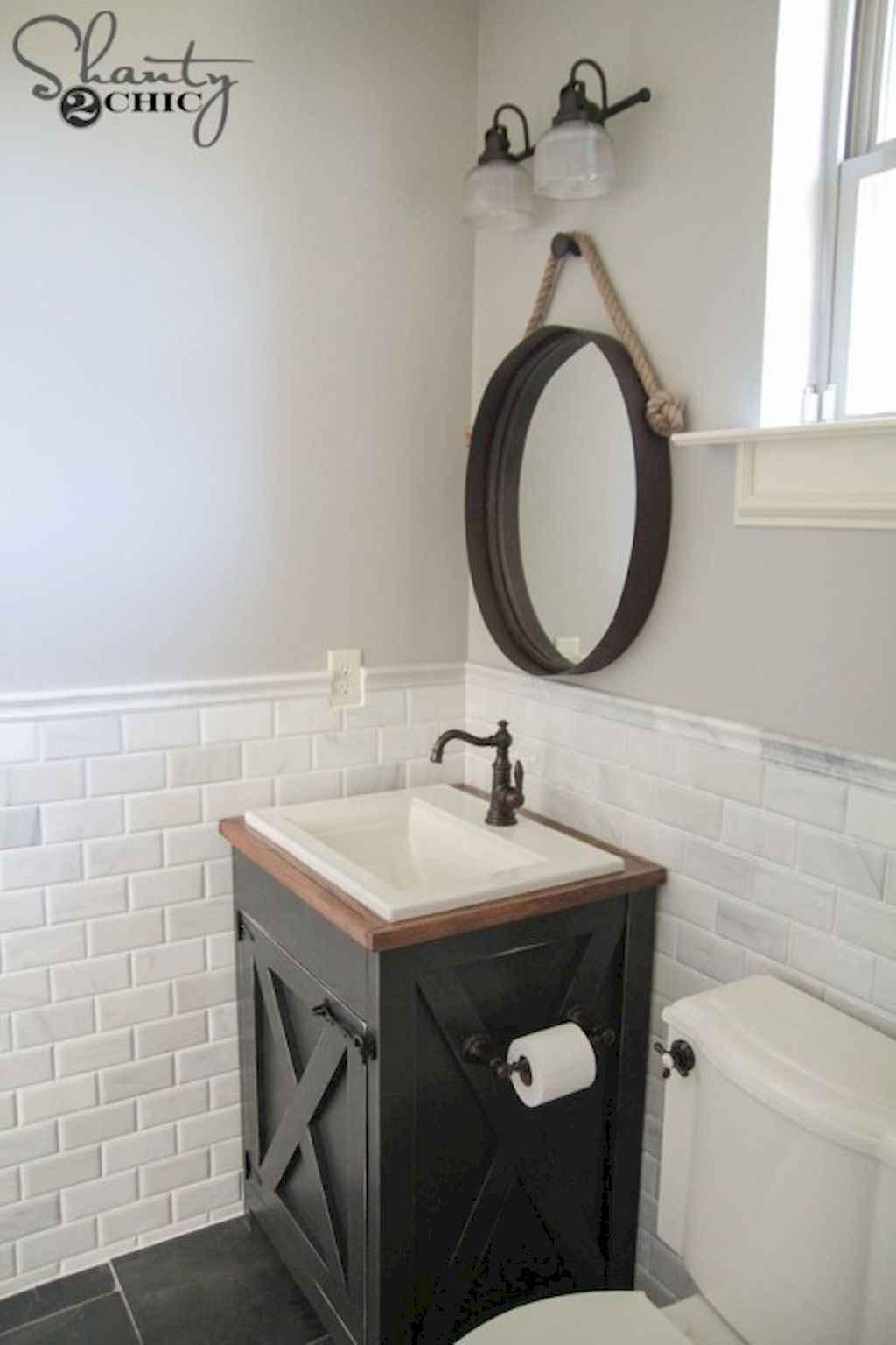 110 Best Farmhouse Bathroom Decor Ideas (152)