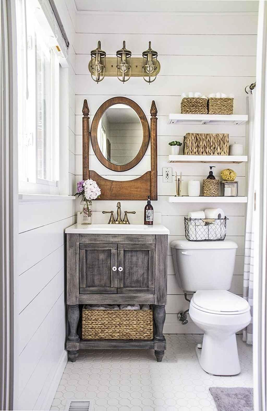 110 Best Farmhouse Bathroom Decor Ideas (155)