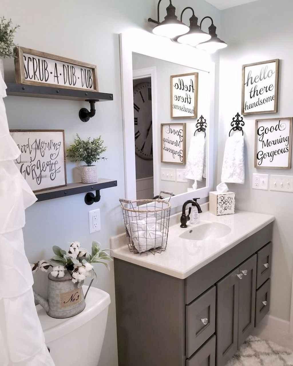 110 Best Farmhouse Bathroom Decor Ideas (160)