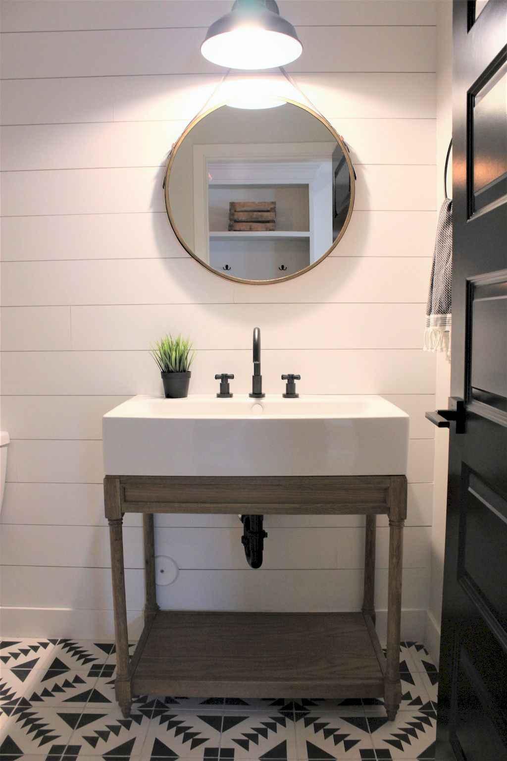 110 Best Farmhouse Bathroom Decor Ideas (163)