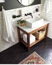110 Best Farmhouse Bathroom Decor Ideas (170)